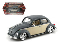 Volkswagen Beetle VW Grey Hot Low Rider 1/24 Scale Diecast Car Model By Welly 22436