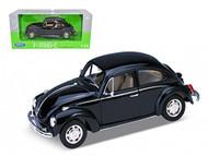 Volkswagen Beetle VW Black 1/24 Scale Diecast Car Model By Welly 22436