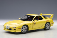 Mazda EFINI RX-7 FD New Animation Film Initial D Yellow 1/18 Scale Diecast Car Model By AUTOart 75966