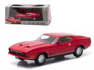1971 Ford Mustang Mach 1 Red Greenlight Exclusive 1/43 Scale Diecast Car Model By Greenlight 86304