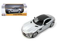 Mercedes Benz AMG GT Silver 1/18 Scale Diecast Car Model By Maisto 36204