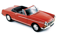 Norev 1/18 Scale 1967 Peugeot 404 Cabriolet Capanelle Red Diecast Car Model 184779