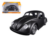 1959 VW Volkswagen Beetle Bug 5 Spoke Rims Satin Matt Grey 1/24 Scale Diecast Car Model By Jada 97490