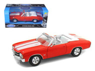 1971 Chevrolet Chevelle SS 454 Red 1/24 Scale Diecast Car Model By Welly 22089