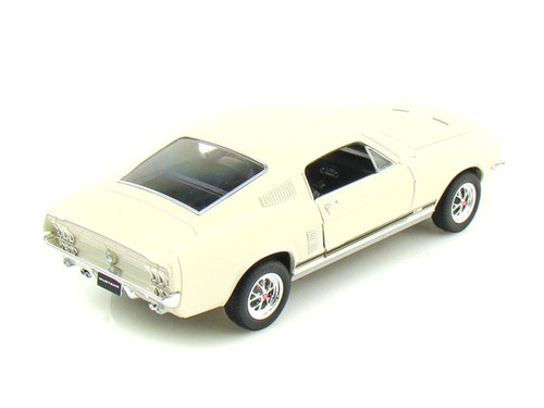 1967 Ford Mustang GT Cream Beige 1/24 Scale Diecast Car Model By Welly  22522