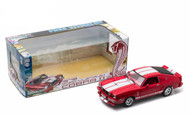 1978 Ford Mustang II Cobra II Red With White Stripes 1/18 Scale Diecast Car Model By Greenlight 12940