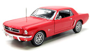 1964 1/2 Ford Mustang Coupe Red 1/18 Scale Diecast Car Model By Welly 12519