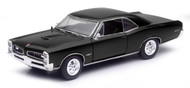 1966 Pontiac GTO Black 1/24 Scale Diecast Car Model By Newray 71853