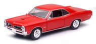 1966 Pontiac GTO Red 1/24 Scale Diecast Car Model By Newray 71853
