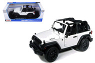 2014 Jeep Wrangler Willys Edition White 1/18 Scale Diecast Model By Maisto 31610