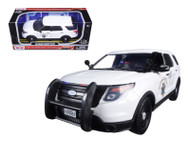 2015 Ford Interceptor CHP Police White 1/24 Scale Diecast Car Model BY Motor Max 76957