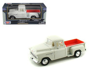 1955 Chevrolet Stepside 5100 Pick Up Truck Cream 1/24 Scale Diecast Model By Motor Max 73236