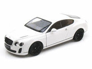 Bentley Continental SuperSports Coupe White 1/18 Scale Diecast Car Model By Welly 18038