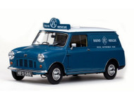 MINI 1960 RAC AUSTIN MINIVAN BLUE 1/12 SCALE DIECAST CAR MODEL BY SUNSTAR SS 5317