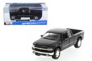Chevrolet Silverado Extra Cab Truck Black 1/27 Scale Diecast Model By Maisto 31941