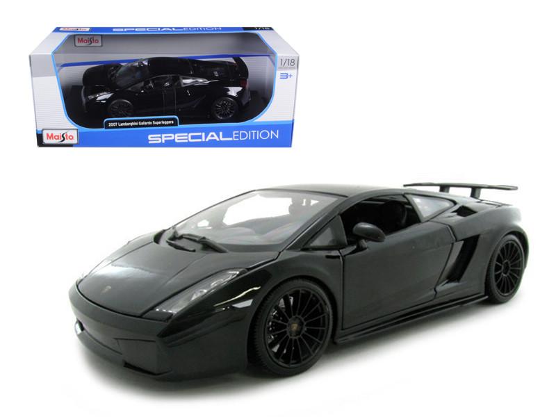 Lamborghini Gallardo Superleggera Black 1 18 Scale Diecast Car