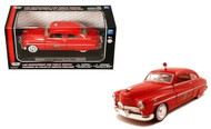 1949 Mercury Coupe Fire Chief 1/24 Scale Diecast Car Model By Motor Max 76418
