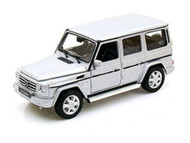 Mercedes Benz G Class Wagon Silver 1/24 Scale Diecast Car Model By Welly 24012