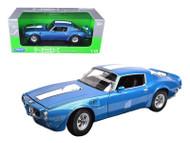 1972 Pontiac Firebird Trans Am T/A Blue 1/18 Scale Diecast Car Model By Welly 12566