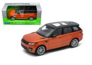 Range Rover Sport Orange SUV 1/24 Scale Diecast Car Model By Welly 24059