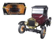1925 Ford Model T Soft Top Burgundy Platinum 1/24 Scale Diecast Car Model By Motor Max 79317