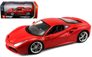 Ferrari 488 GTB Red 1/18 Scale Diecast Car Model By Bburago 16008