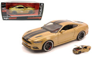 2015 Ford Mustang GT Gold 1/24 Scale Diecast Car Model By Maisto 31369