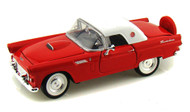 1956 Ford Thunderbird T-Bird Red 1/24 Scale Diecast Car Model By Motor Max 73312