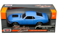 1970 Ford Mustang Boss 429 Blue 1/24 Scale Diecast Car Model Motor Max 73303