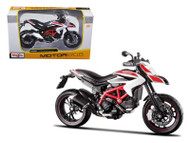 2013 Ducati Hypermotard SP White Motorcycle 1/12 Scale Bike By Maisto 13015