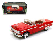 1955 Chevrolet Bel Air Red 1/18 Scale Diecast Car Model By Motor Max 73184