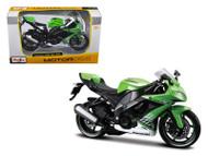2010 Kawasaki Ninja ZX-10R Green Motorcycle Bike 1/12 Scale By Maisto 31187