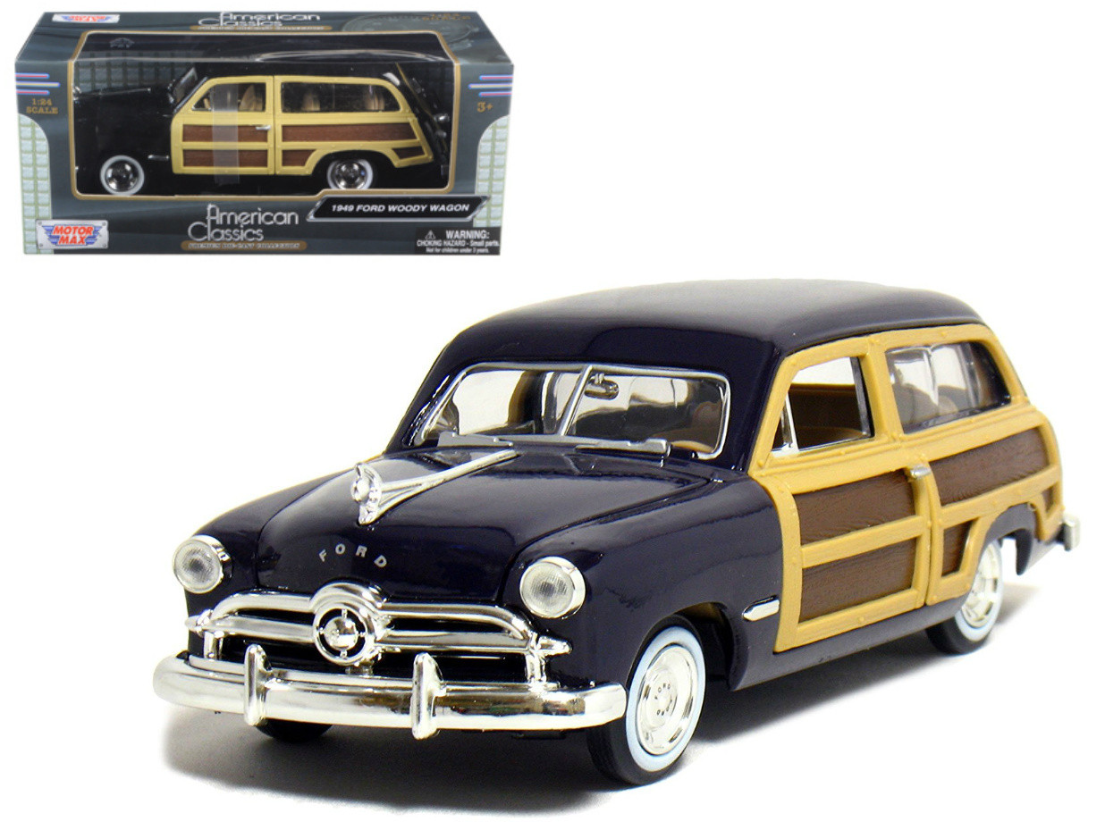 1949 Ford Woody Wagon Blue 1 24 Scale Diecast Car Model By Motor Max 73260