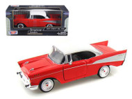 1957 Chevrolet Bel Air Red 1/24 Scale Diecast Car Model By Motor Max 73228
