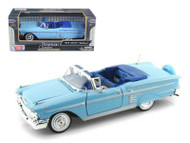 1958 Chevrolet Impala Convertible Blue 1/24 Scale Diecast Car Model By Motor Max 73267