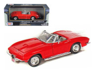 1967 Chevrolet Corvette Convertible Red 1/24 Scale Diecast Car Model By Motor Max 73224