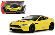 Aston Martin Vantage S V12 Yellow 1/24 Scale Diecast Car Model By Motor Max 79322
