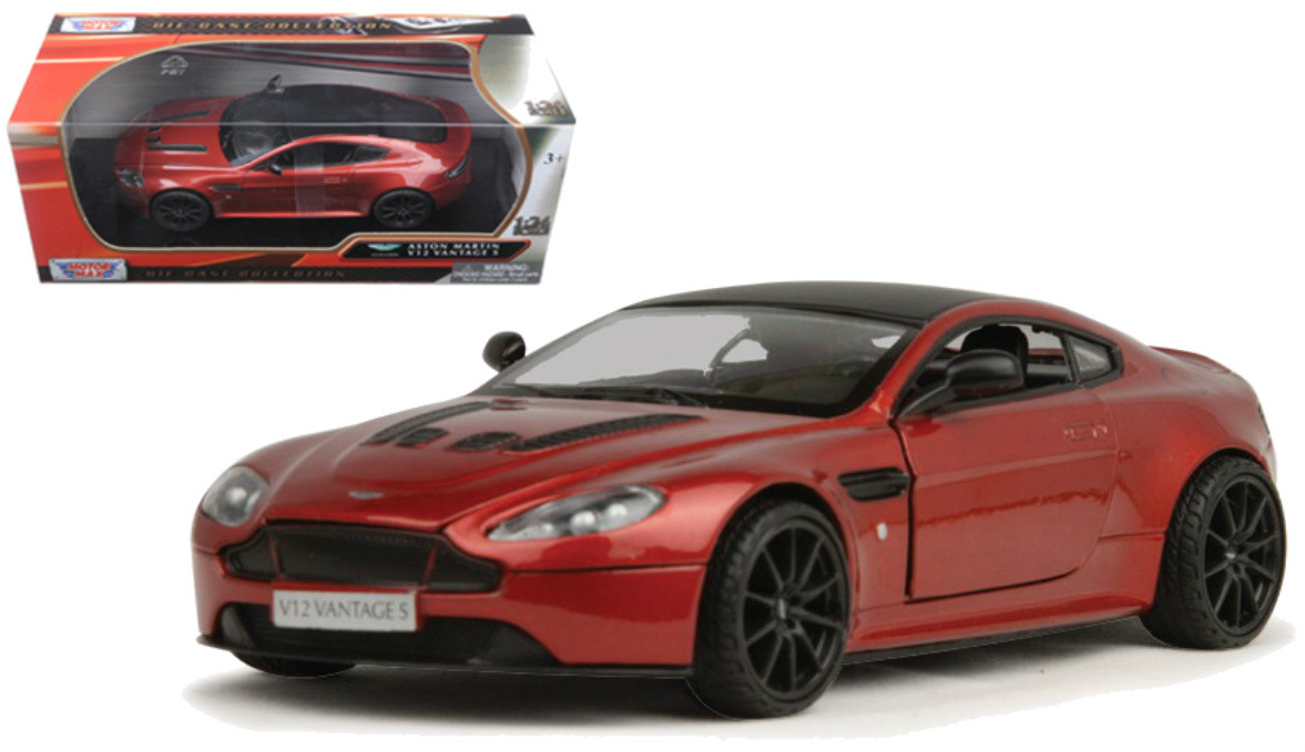 Aston Martin Vantage S V12 Red 1 24 Scale Diecast Car Model By Motor Max 79322