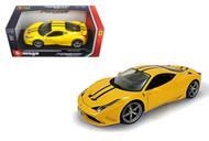 Ferrari 458 Speciale Yellow 1/18 Scale Diecast Car Model By Bburago 16002