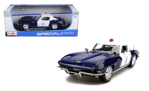 1965 Chevrolet Corvette Police 1/18 Scale Diecast Car Model By Maisto 31381