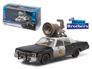 1974 Dodge Monaco Blues Brothers With Horn 1/43 Scale Diecast Car Model By Greenlight 86423