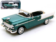 1955 Chevrolet Bel Air Green 1/18 Scale Diecast Car Model By Motor Max 73185