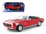 1967 Chevrolet Camaro SS 396 Convertible Red 1/18 Scale  Diecast Car Model By Maisto 31684