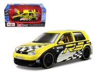 Volkswagen Golf R32 Yellow 1/24 Scale Diecast Car Model By Maisto 31043