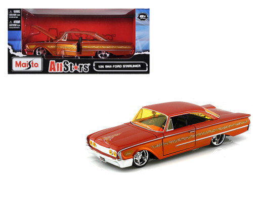 1960 Ford Starliner Orange 1/24 Scale Diecast Car Model By Maisto 31038