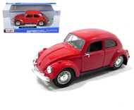 Volkswagen Beetle Bug Red 1/24 Scale Diecast Car Model By Maisto 31926