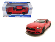 2015 Ford Mustang GT Red 1/24 Scale Diecast Car Model By Maisto 31508