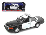 2001 Ford Crown Victoria Blank Interceptor Police 1/18 Scale Diecast Car Model By Motor Max 73516
