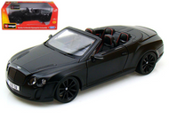 BENTLEY CONTINENTAL SS CONVERTIBLE ISR SUPERSPORTS MATT BLACK 1/18 SCALE DIECAST CAR MODEL BY BBURAGO 11035