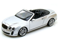 Bentley Continental SS Convertible ISR Super Sport Silver 1/18 Scale Diecast Car Model By Bburago 11035